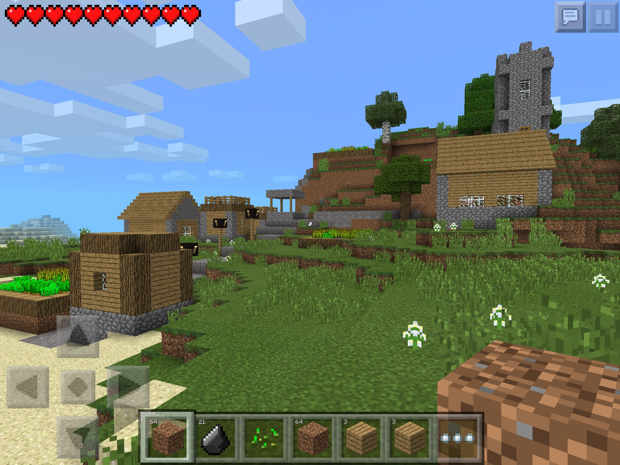 Minecraft Village Garden minecraft pe 0.10.0 the seed is mooshroom. there is a stronghold