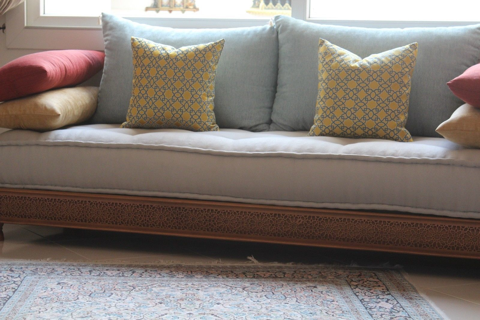Beautiful Handcrafted Moroccan Sofa Daybed Divan Sofa Bed Delivery Available By Moroccanlegacyuk On Etsy Sofa Sofa Bed Bed