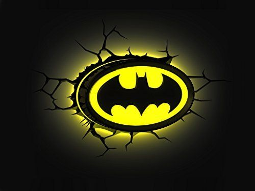 Batman Dc Comics Logo 3d Wall Deco Light Batman Desenhos