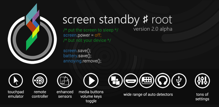 Review Screen Standby Root Android App >>> click the