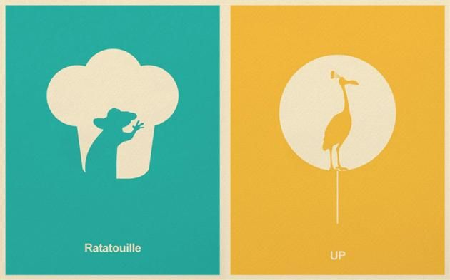 Disney Pixar Minimalist Posters (2)
