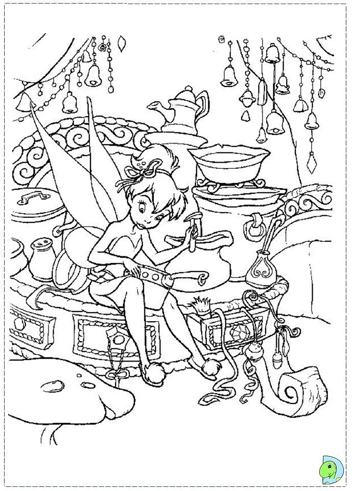 Tinkerbell coloring page- DinoKids.org | coloring | Pinterest ...