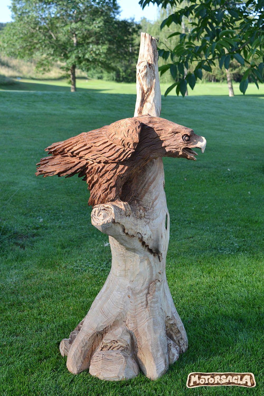 adler, geschnitzt mit der motorsäge. #eagle#adler#schnitzkunst