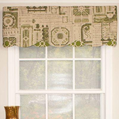 "RLF Home Le Jardin Petticoat 50"" Curtain Valance"