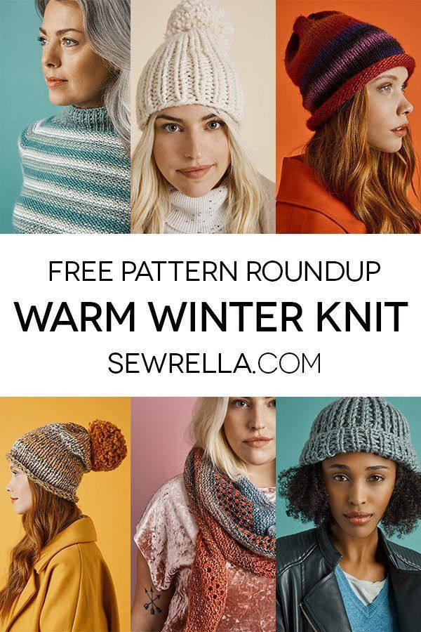 Warm Winter Knit Patterns Roundup | Gorros, Tejido y Dos agujas