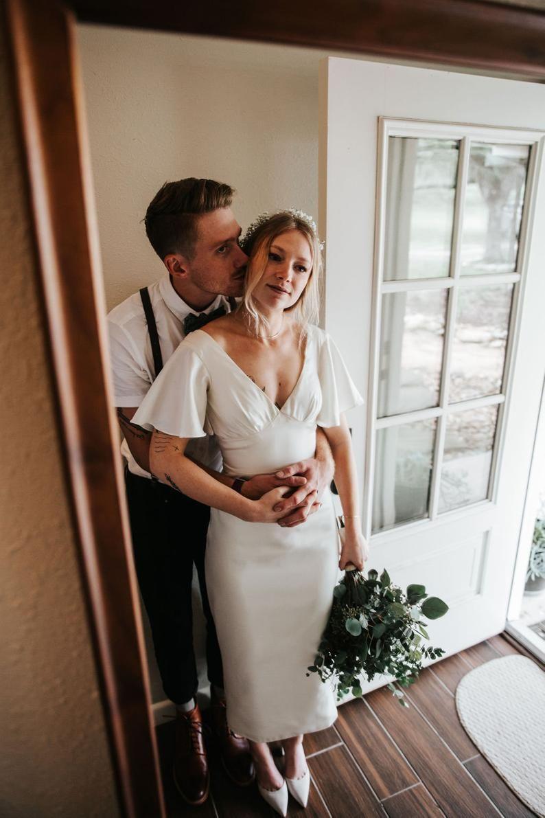 Cristallini Ska427 Knee Length Wedding Dress Wedding Dress Guide Short Wedding Dress [ 2280 x 1520 Pixel ]