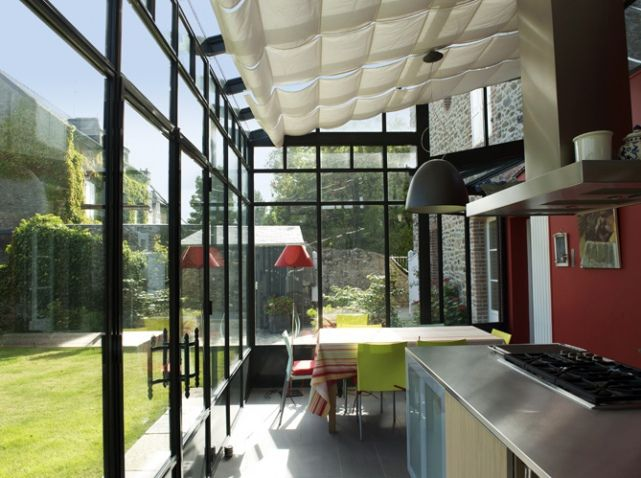 Veranda contemporaine turpin longueville verri res for Veranda cuisine design