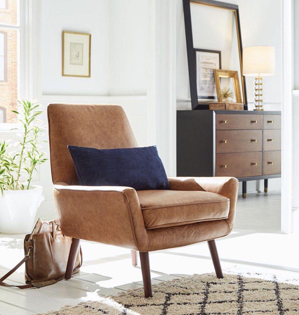 Midcentury Modern Accent Chair In Cognac Apartmentfurniture Ad