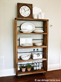 Our Vintage Home Love: Reclaimed Wood Shelving