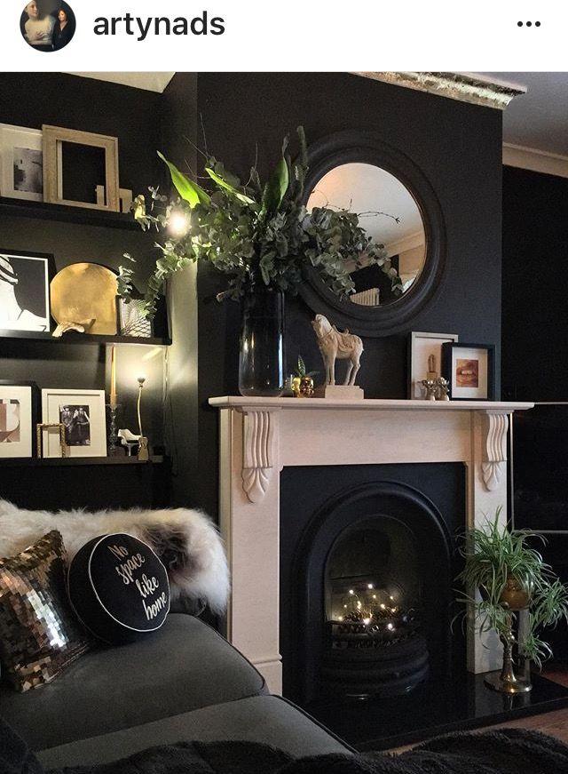Black Living Room Blacklivingroom Dark Living Rooms Black