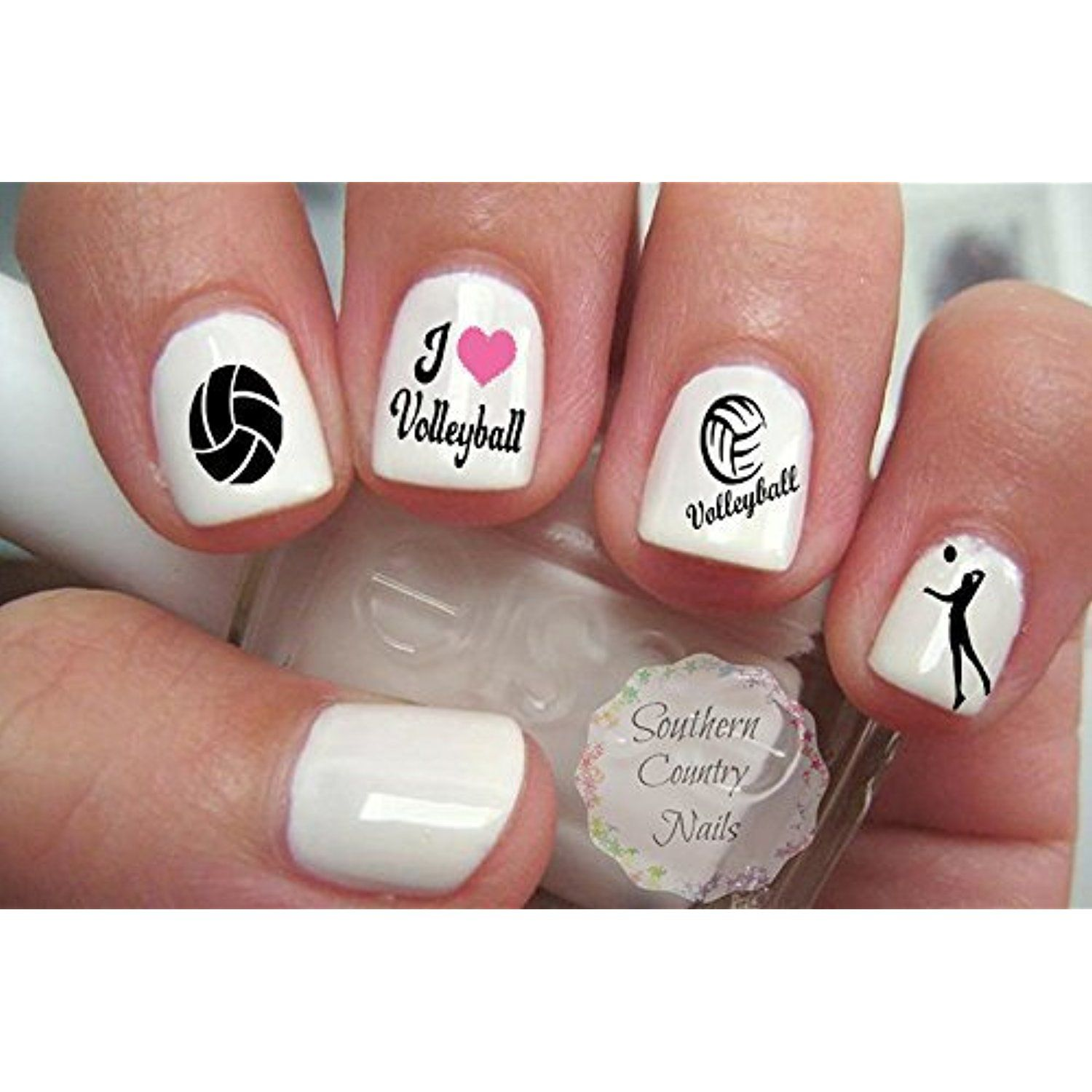 50 Sports Volleyball Nail Art Designs Decals Visit The Image