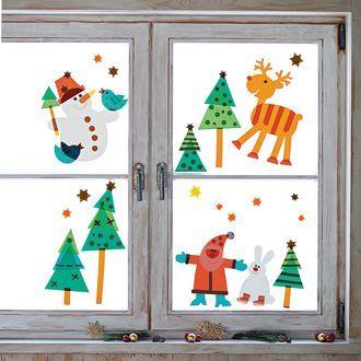 Sachenmacher fensterbilder weihnachten bastelset online - Fensterdeko weihnachten kinder ...