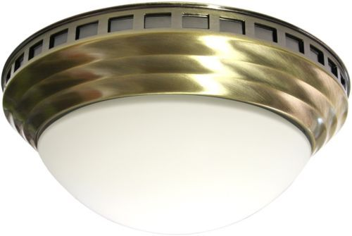 Bathroom Fan With Light Decorative Antique Brass Dome Exhaust Vent