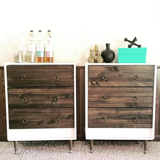 14 Ways To Hack IKEAu0027s RAST Dresser | Dark Wood Stain, Wood Stain And White  Paints