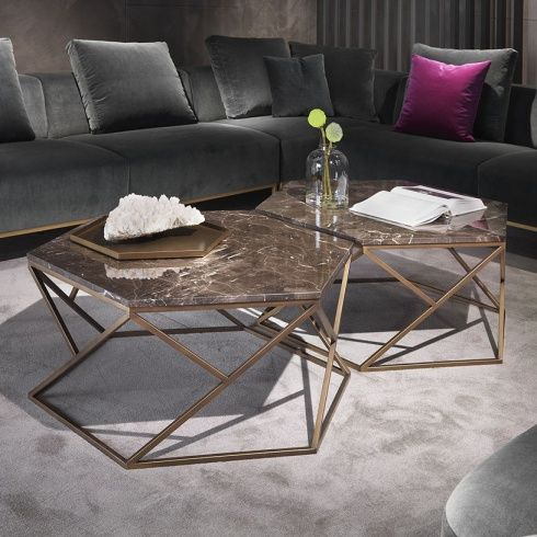 Hive Hexagonal Marble Coffee Table images