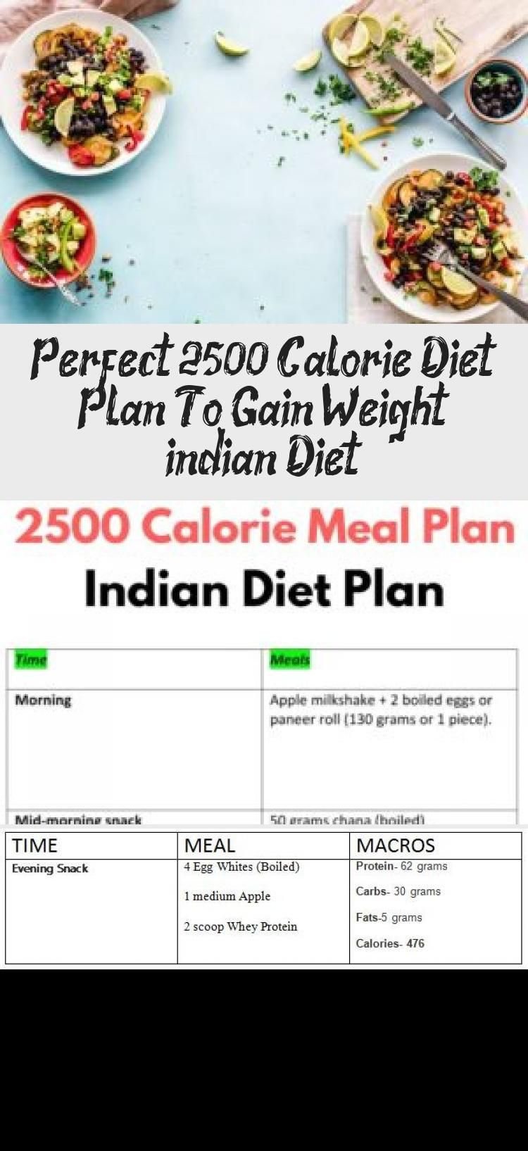 Perfect 2500 Calorie Diet Plan To Gain Weight (indian