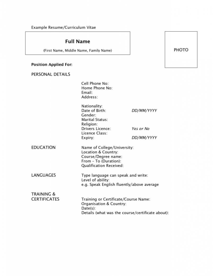 10 Resume Reference Pattern