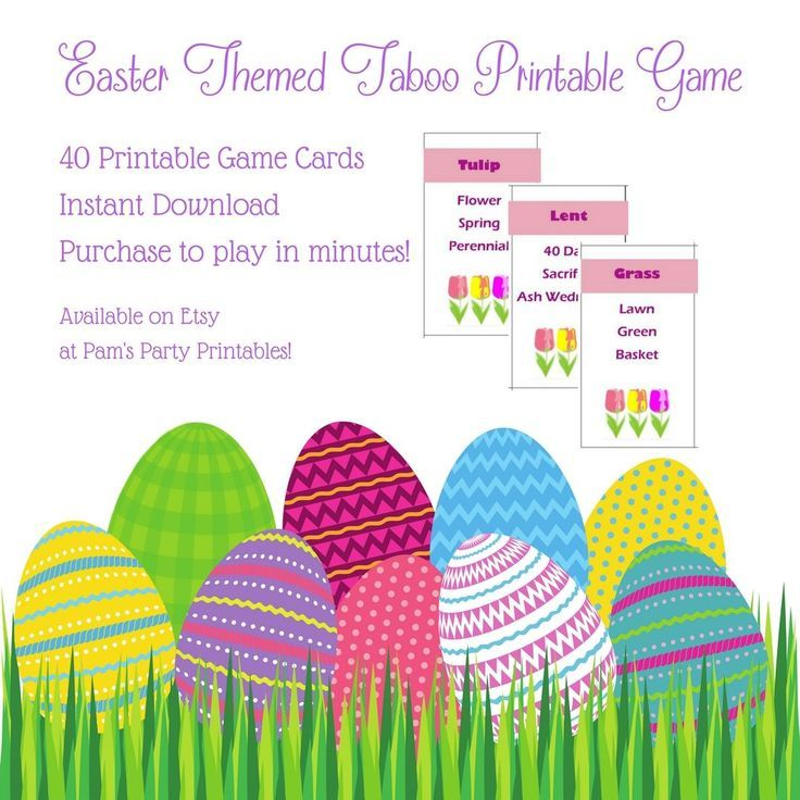 Printable Easter And Spring Game