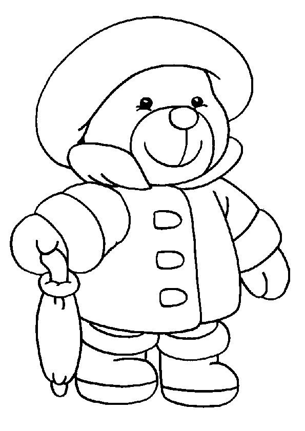 Teddy Bear Coloring Pages Great Pictures And Easy To