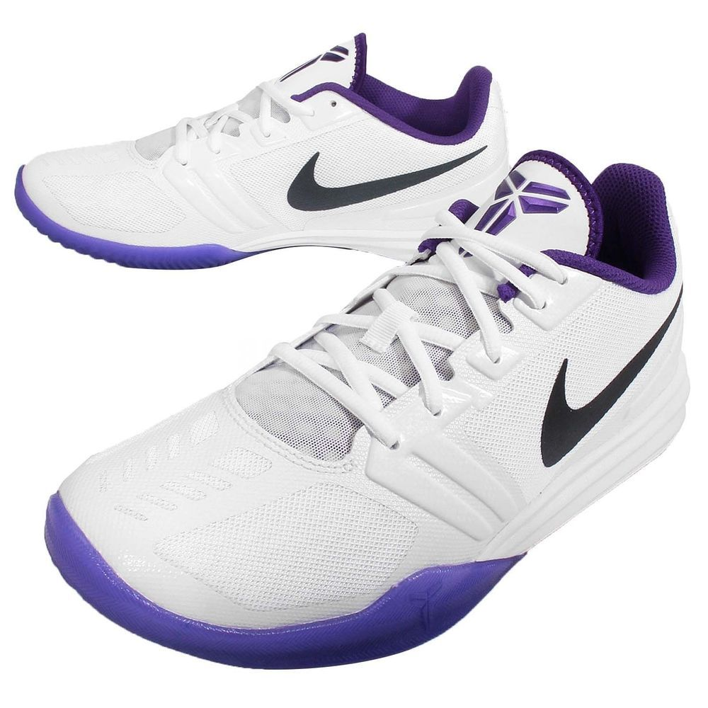 a8bf41fe0876 NIKE KB MENTALITY MENS KOBE MAMBA WHITE GRAPE  704942 101  ELITE SIZE 8.5  NEW  Nike  AthleticSneakers