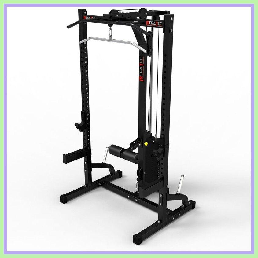weight stack half rack squat rack