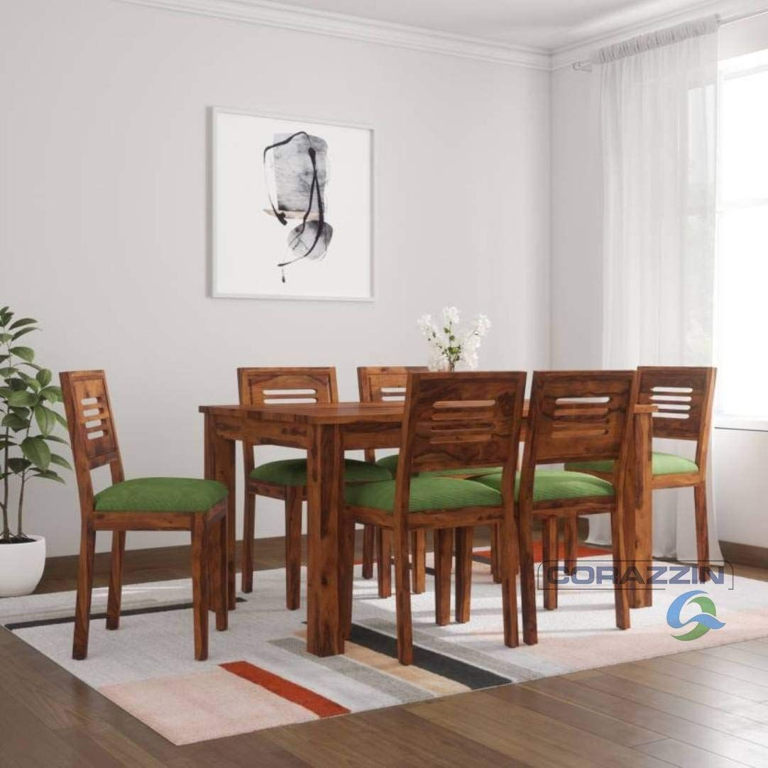 Sheesham Wood Dining Table With Chairs Chusion Dining Room