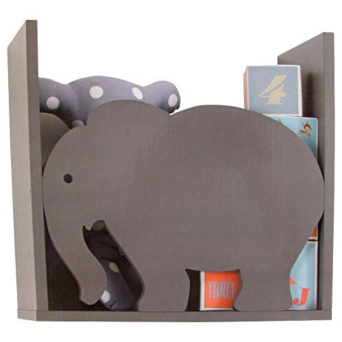 Holz Kinderregal - Motiv Elefant - Kinderzimmer Wandregal zum ... | {Kindermöbel holz 40}