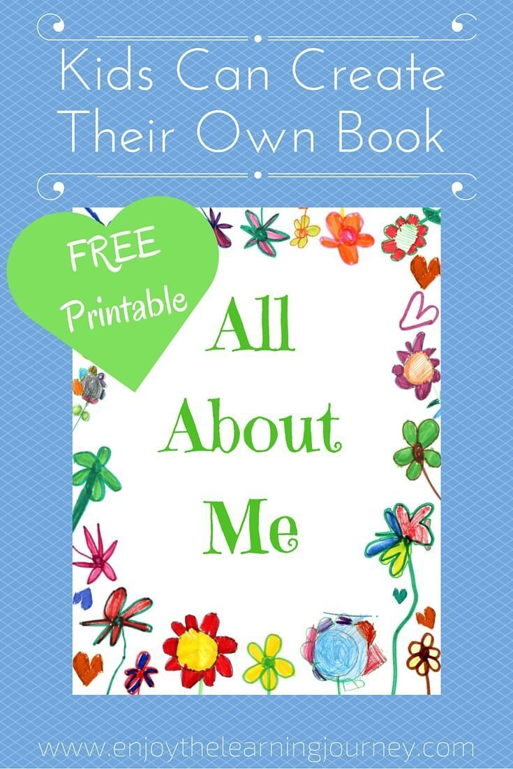 All About Me Book with FREE Printable | Pinterest | Free printable ...