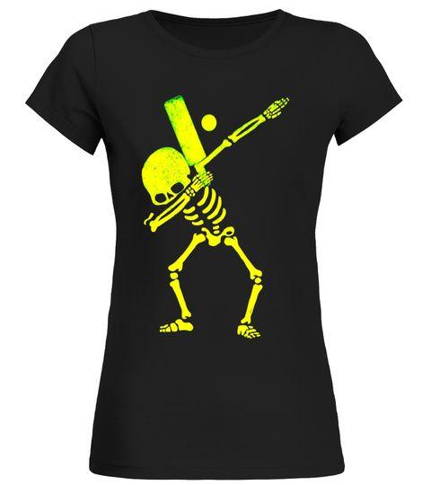 Dabbing Skeleton Cricket Dab T-Shirt Round neck T-Shirt Woman ...