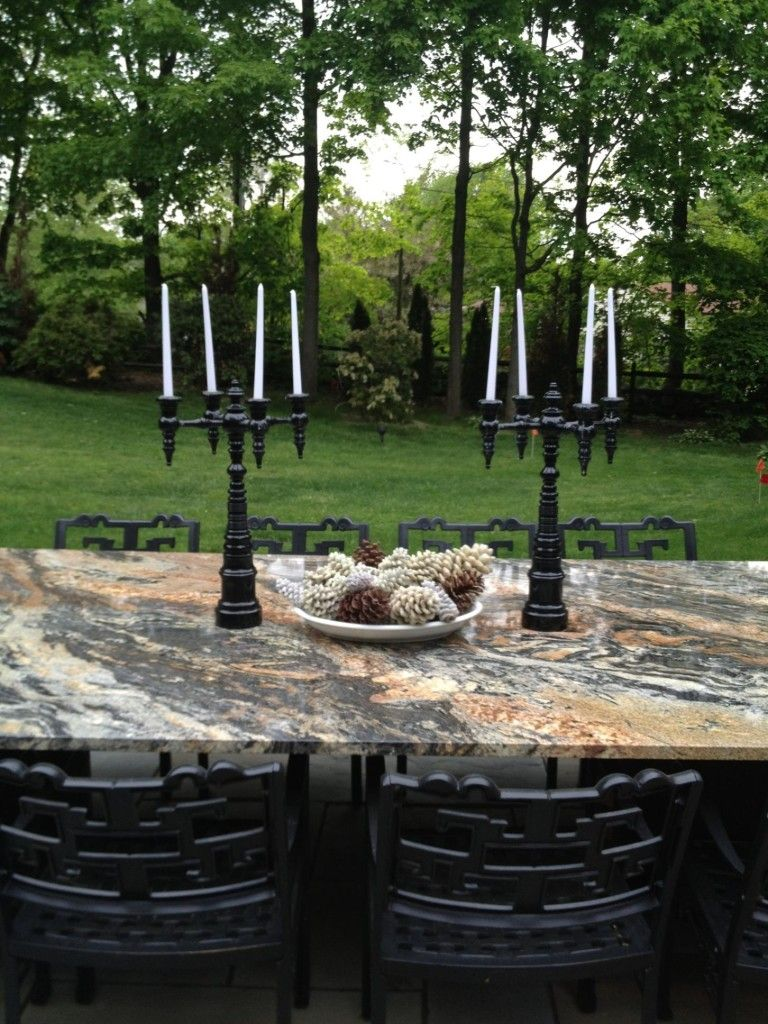 Dunes And Duchess Candelabras For An Outdoor Party. Pictures Gallery