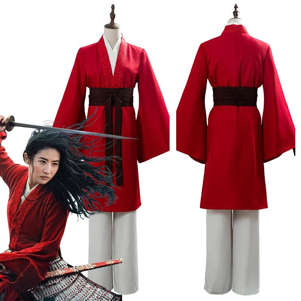 2020 Movie Mulan Womens Garments Mulan Hanfu Cosplay Costume In 2020 Halloween Fancy Dress Mulan Halloween Costume Princess Costume