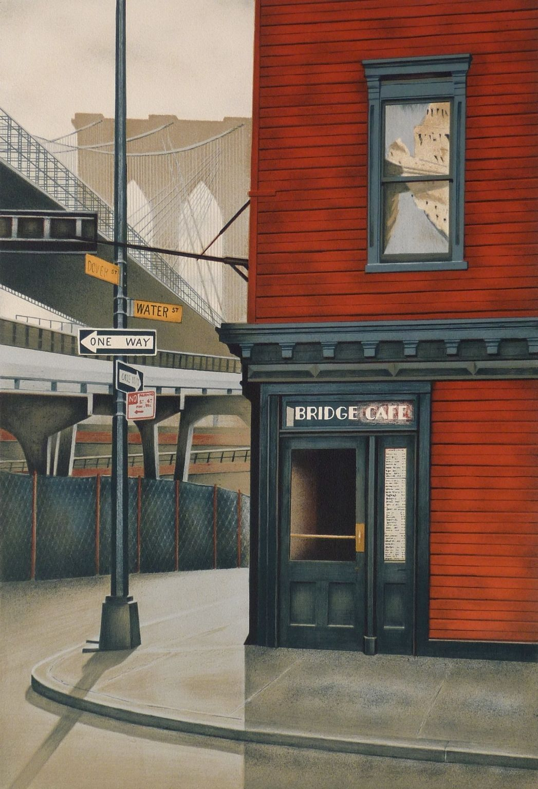 Andre Renoux The Bridge Cafe In New York Usa Landscape Prints