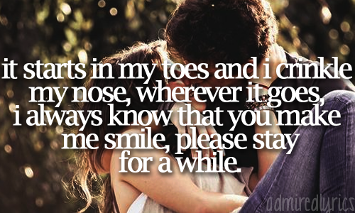 Song lyrics starts in my toes