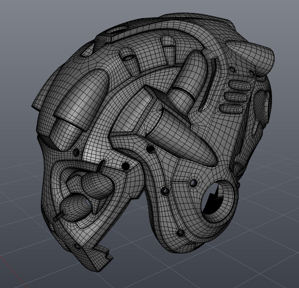 Hard Surface Topology Hard Surface Modeling Wireframe 3d Modeling Tutorial