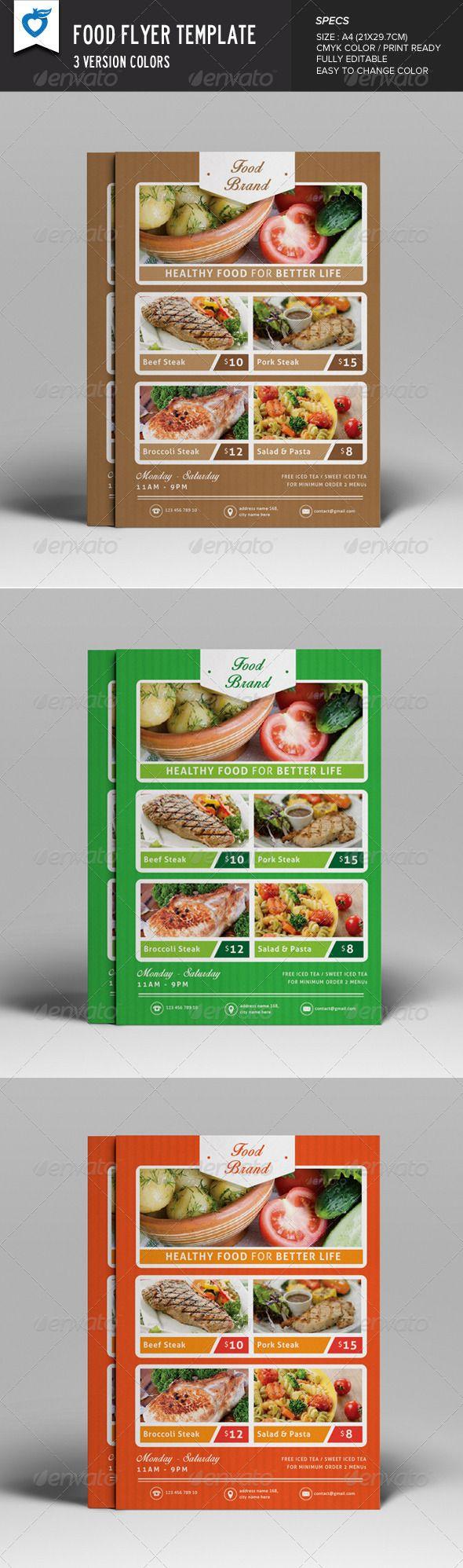 Food Flyer Template Design Download HttpGraphicriverNetItem