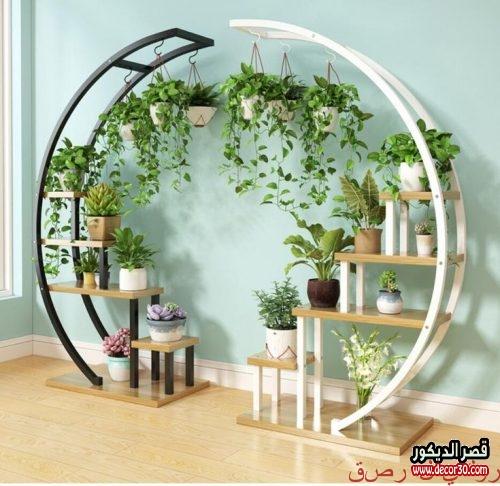 وحدات رفوف من ايكيا رفوف خشب تصاميم 2020 قصر الديكور House Plants Decor Garden Rack House Plants Indoor