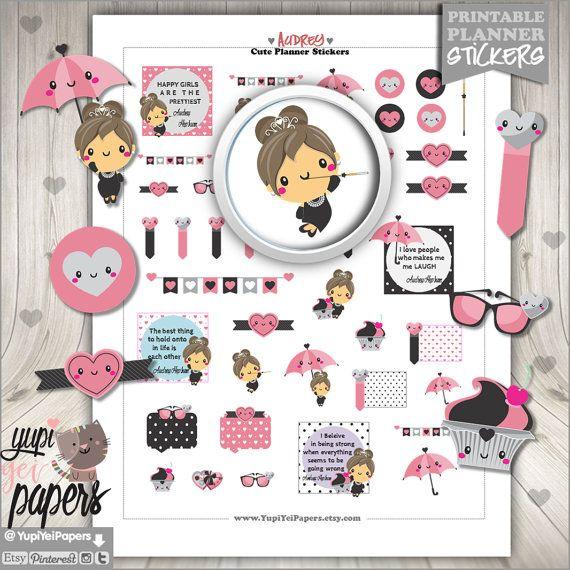 Audrey Stickers, Audrey Hepburn Stickers, Planner Stickers ...