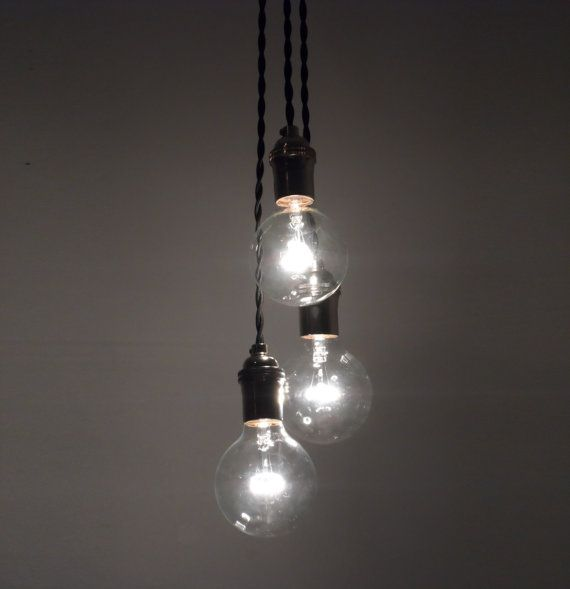 Modern Kitchen Lighting 3 Light Cluster Any Colors Unique Etsy Hanging Pendant Lights Multi Light Pendant Hanging Pendant Lamp