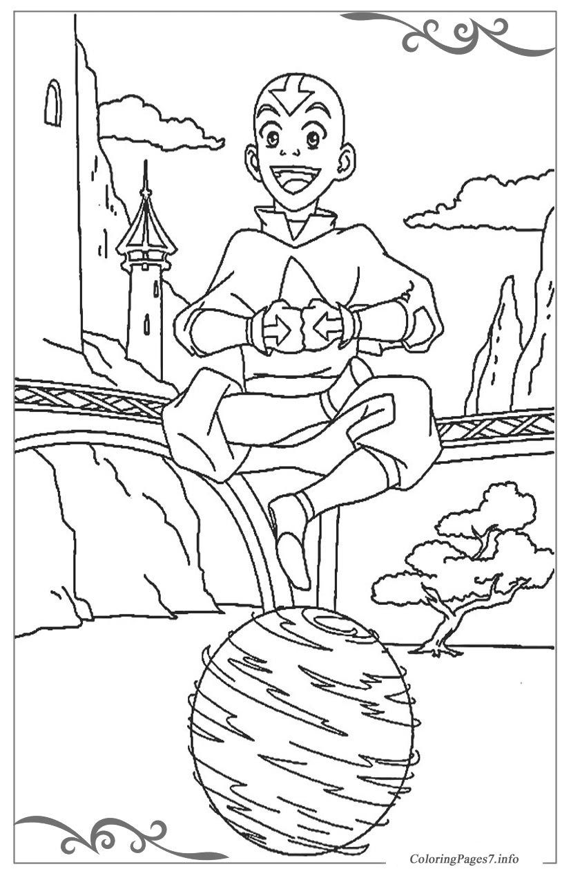 Avatar: The Legend of Aang Printable Coloring Pages for Kids ...