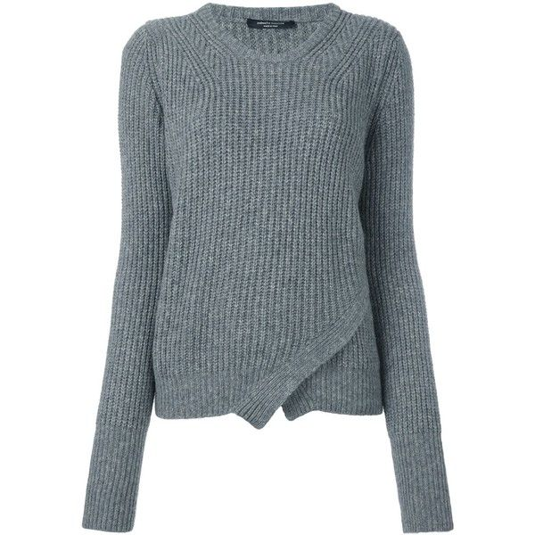 Roberto Collina wrap effect cable knit jumper (£245) ❤ liked on ...