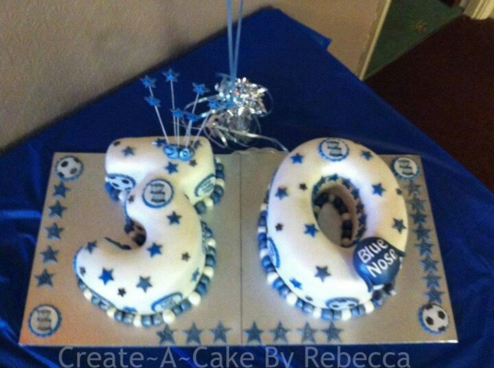 30th birmingham city cake by createacake by rebecca