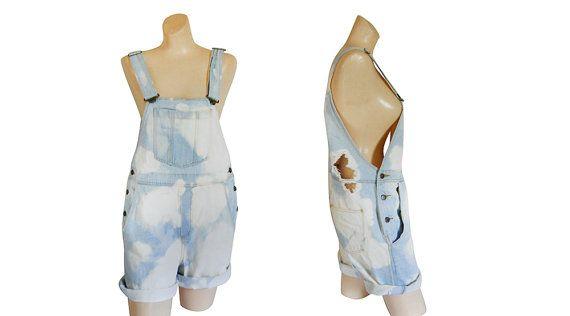 Women Denim Overall Shorts Denim Shortall by #ShineBrightVintage