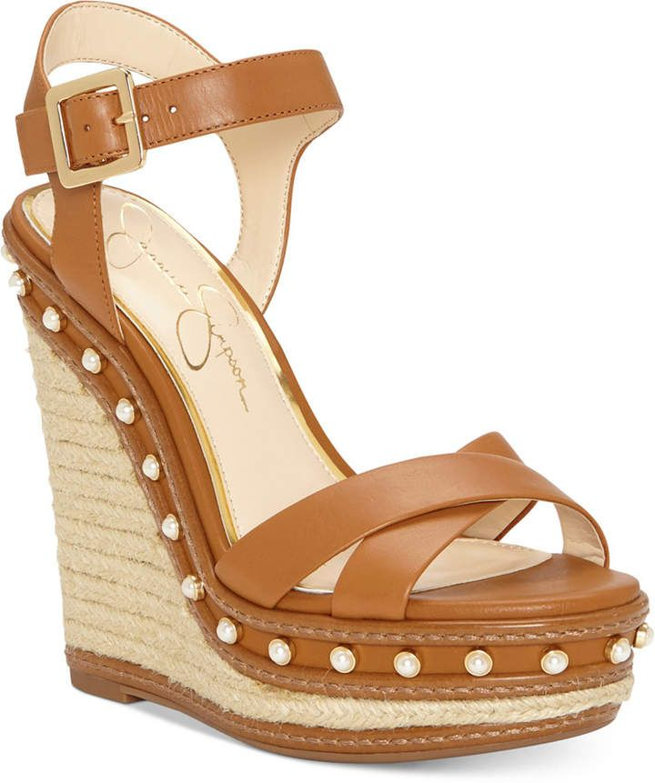 44b2382762d Jessica Simpson Aeralin Wedge Sandals Women s Shoes  sale
