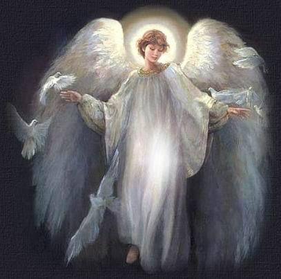 Figura de um anjo com asas