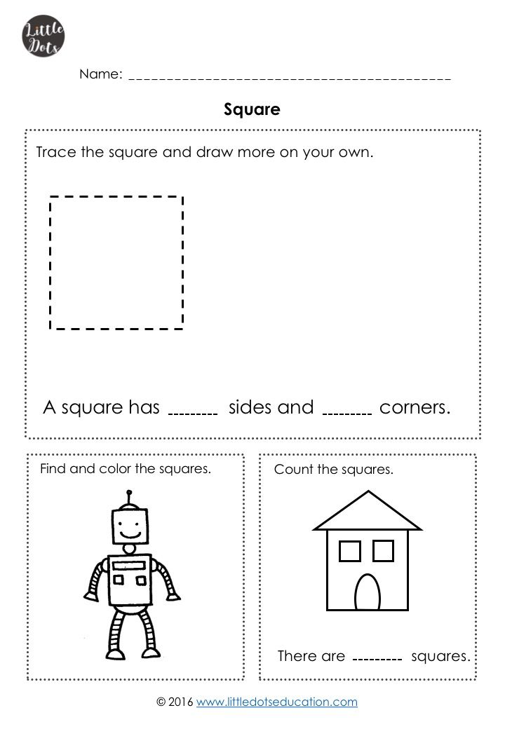 Kindergarten Math Shapes Worksheets And Activities Kindergarten