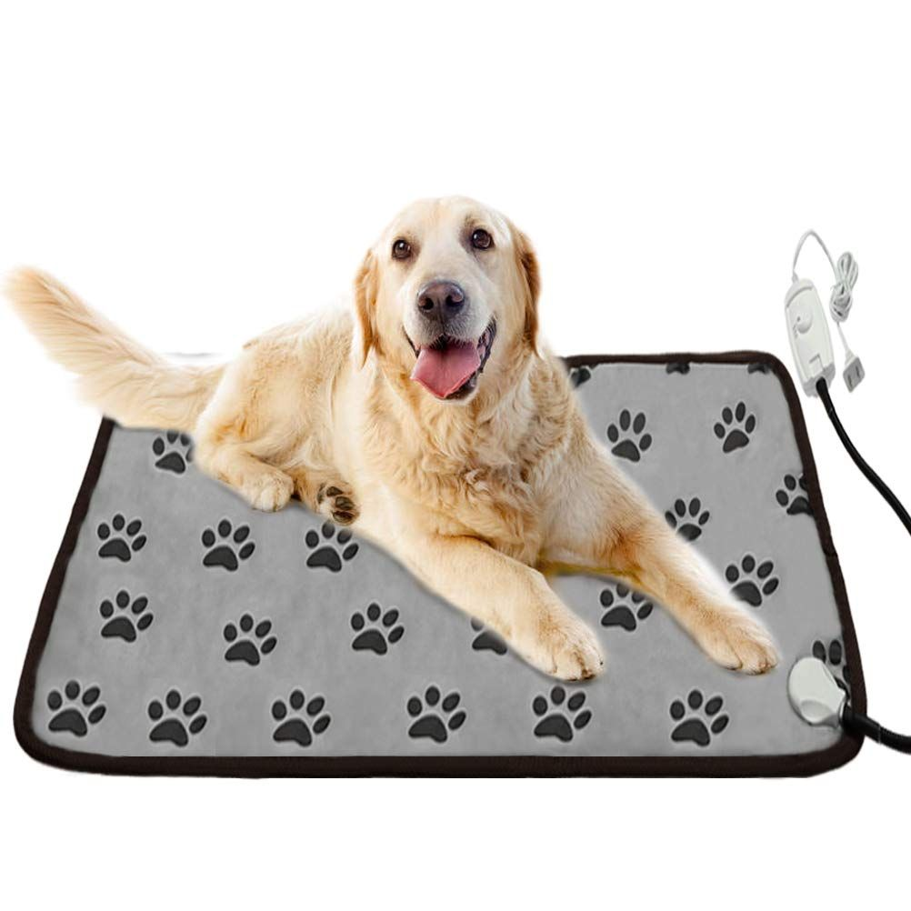 Bingpet Pet Heating Pad Electric Waterproof Warming Mat With Chew Resistant Steel For Dogs And Cats Indoor Ad E Pet Heating Pad Dog Supplies Dog Bed Warmer