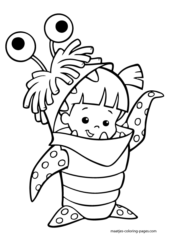monsters inc.  monster coloring pages disney coloring pages