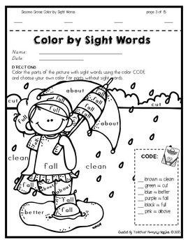 Sight Words Coloring Pages Cinebrique