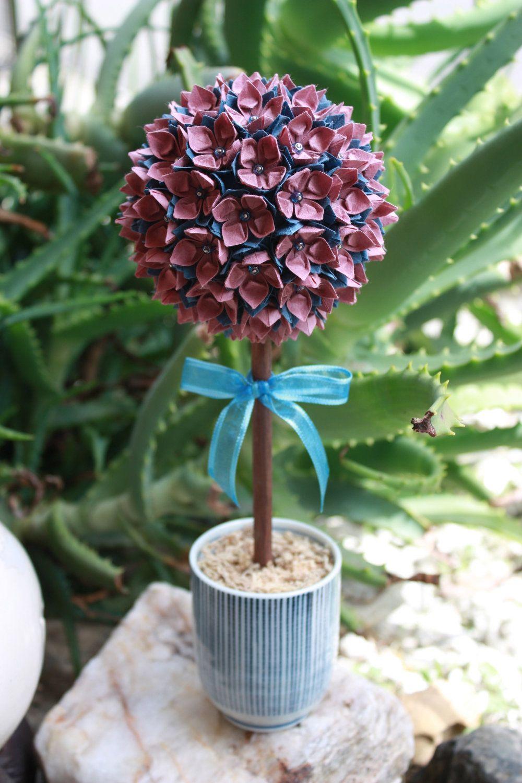 Origami paper flower topiary topiaries pinterest origami paper origami paper flower topiary mightylinksfo
