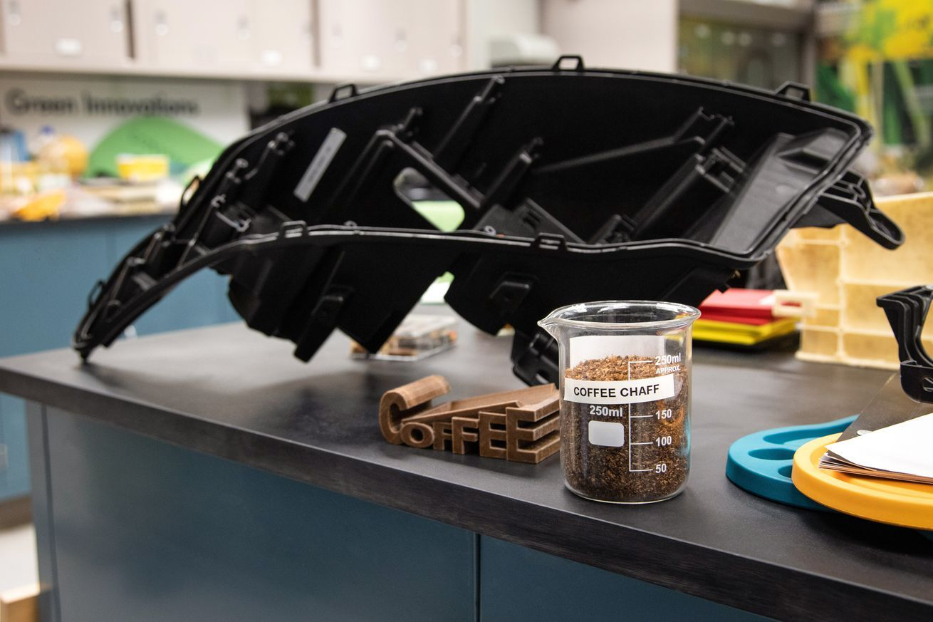 is recycling used McDonalds coffee grounds into car parts#mobile#news#tech SPONSORED BY - !